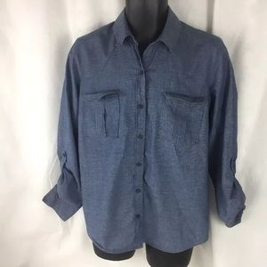Loft Size Large Denim Shirt  Women's.